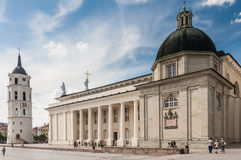 Vilnius. Cathedral Square. Cathedral, bell tower Stock Photography