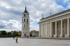 Vilnius, Cathedral Square. Cathedral of St. Stanislaus and St. V Royalty Free Stock Photography