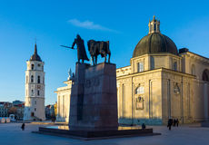 Vilnius cathedral square Royalty Free Stock Photo