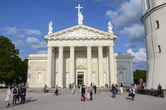 Vilnius Cathedral square Royalty Free Stock Images