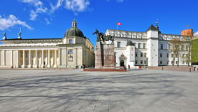Vilnius Cathedral square Stock Images