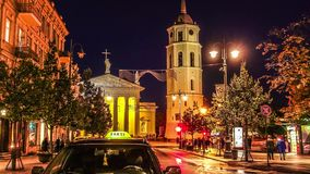 Vilnius Cathedral, timelapse stock footage