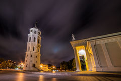Vilnius Cathedral and tower Stock Images