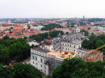 Vilnius cathedral view from Gediminas castle. Essential catholic cathedral in Lithuania Stock Photography