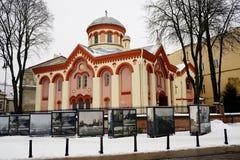 Vilnius centrum miasta zimy ulicy stary widok Zdjęcia Royalty Free