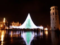 Vilnius Christmas tree Stock Image