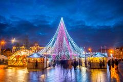 Vilnius Christmas tree. Europe, light