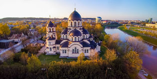 Vilnius church. Lady of the Sign church in Vilnius, Lithuania royalty free stock photo