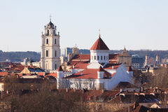 Vilnius churches Stock Image