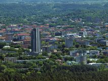 Vilnius city aerial view. Shots from TV tower to Vilnius city center Royalty Free Stock Photos