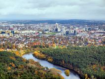 Vilnius city aerial view Stock Photos