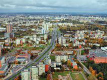Vilnius city aerial view Royalty Free Stock Photo