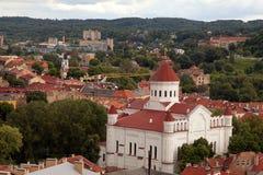 Vilnius city aerial view Royalty Free Stock Image