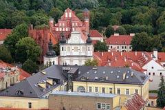 Vilnius city aerial view Stock Photo