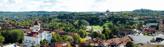 Vilnius city aerial view from Vilnius University tower Royalty Free Stock Image