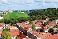 Vilnius city aerial view from Vilnius University tower Stock Photo