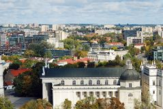 Vilnius city aerial view from Vilnius University tower Royalty Free Stock Images