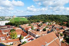 Vilnius city aerial view from Vilnius University tower Royalty Free Stock Photography