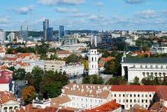 Vilnius city aerial view from Vilnius University tower Royalty Free Stock Photos