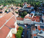 Vilnius city aerial view from Vilnius University tower Stock Photos