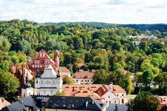 Vilnius city aerial view from Vilnius University tower Stock Image