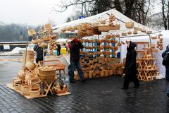 Vilnius city in annual traditional crafts fair: Kaziukas fair Stock Photography