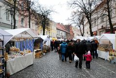 Vilnius city in annual traditional crafts fair: Kaziukas fair Royalty Free Stock Photography