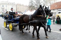 Vilnius city in annual traditional crafts fair: Kaziukas fair Royalty Free Stock Photo