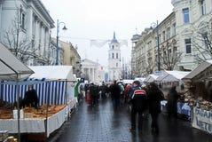 Vilnius city in annual traditional crafts fair: Kaziukas fair Royalty Free Stock Image