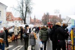Vilnius city in annual traditional crafts fair: Kaziukas fair Stock Image
