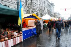 Vilnius city in annual traditional crafts fair: Kaziukas fair Royalty Free Stock Photos