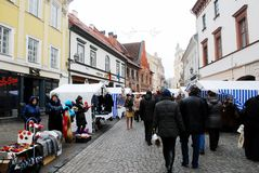Vilnius city in annual traditional crafts fair: Kaziukas fair Royalty Free Stock Images