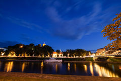 Vilnius City At Night Stock Images