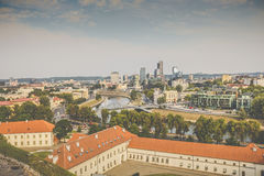 Vilnius city, business part of city, Lithuania. Royalty Free Stock Images