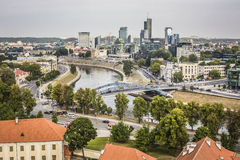 Vilnius city, business part of city, Lithuania. Stock Image