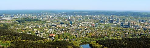 Vilnius city capital of Lithuania aerial view Stock Image