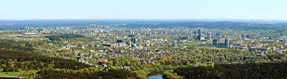 Vilnius city capital of Lithuania aerial view Royalty Free Stock Image