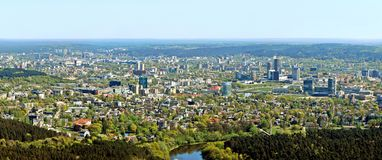 Vilnius city capital of Lithuania aerial view Stock Photos