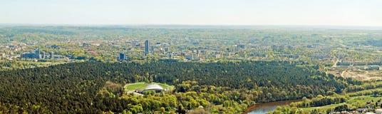 Vilnius city capital of Lithuania aerial view Stock Photos