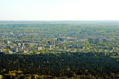 Vilnius city capital of Lithuania aerial view Royalty Free Stock Images