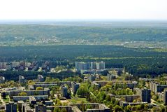 Vilnius city capital of Lithuania aerial view Stock Photography