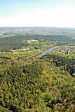 Vilnius city capital of Lithuania aerial view Royalty Free Stock Photo