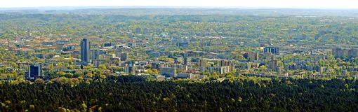 Vilnius city capital of Lithuania aerial view Stock Images