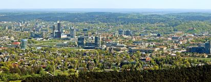 Vilnius city capital of Lithuania aerial view Royalty Free Stock Photography