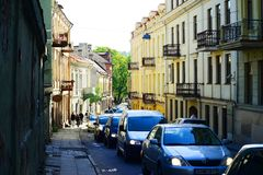 Vilnius city - capital of Lithuania - life Stock Photo