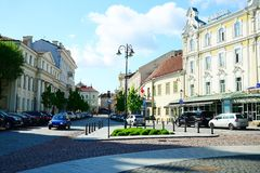 Vilnius city - capital of Lithuania - life Royalty Free Stock Image