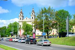Vilnius city - capital of Lithuania - life Royalty Free Stock Photos