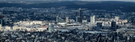 Vilnius city center. Linhuanian capital Vilnius city panoramic view from TV tower Stock Photo