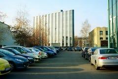 Vilnius city center at autumn time on November 11, 2014 Stock Photo