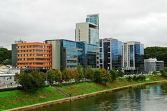 Vilnius city center new offices and houses Royalty Free Stock Images